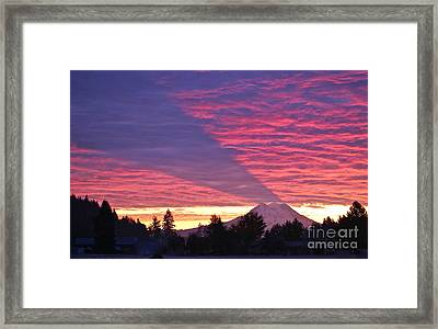 Shadow Of Mount Rainier Framed Print