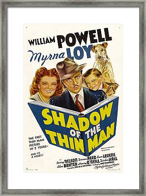 Shadow Of The Thin Man, Myrna Loy Framed Print by Everett