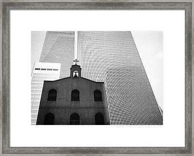 Shadow Of World Trade Center Framed Print
