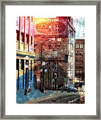 Framed Print featuring the photograph Shadow On St. Paul by Susan Stone