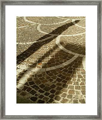 Framed Print featuring the photograph Shadow On Stone by Michael Flood