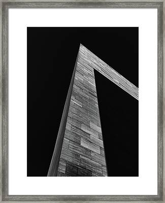 Shadow On The East Wing Framed Print by Andrew Wohl