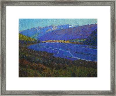 Shadow On The Rees Framed Print