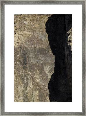 Shadow On The Stone Framed Print