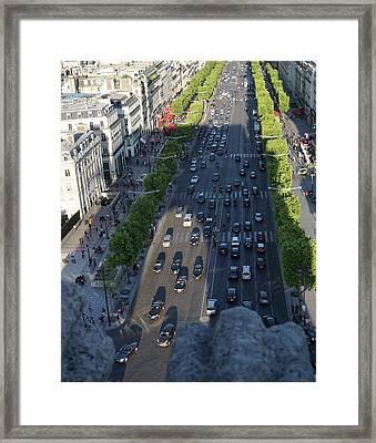 shadow Over Traffic Framed Print by Alex Wilkinson