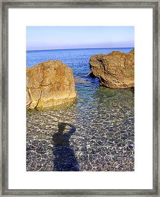 Shadow Pelion Greece Framed Print