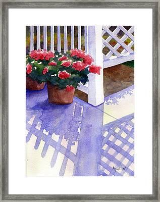 Shadow Play Framed Print by Marsha Elliott