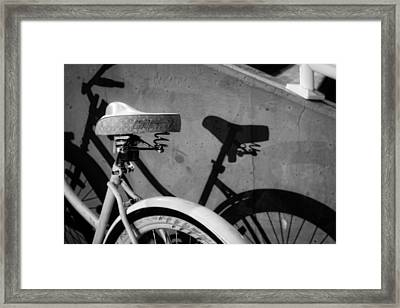 Shadow Ride In Black And White Framed Print
