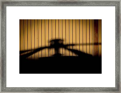 Framed Print featuring the photograph Shadow Rotor by Paul Job