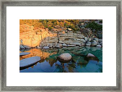 Shadow Selfie Framed Print