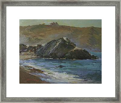 Shadow Side Of Shark Framed Print