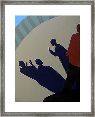 Shadow Talk Framed Print