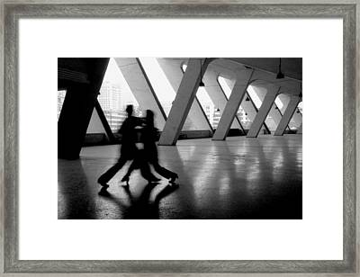 Shadow Tango Framed Print by Lian Wang