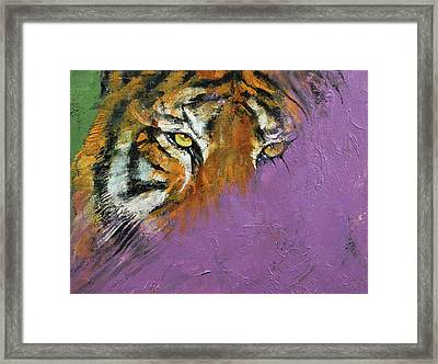Shadow Tiger Framed Print