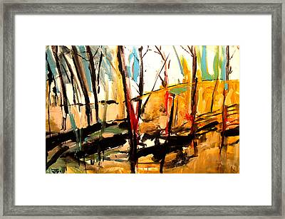 Shadow Trees Framed Print