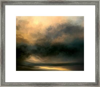 Shadow Valley Framed Print by Lonnie Christopher