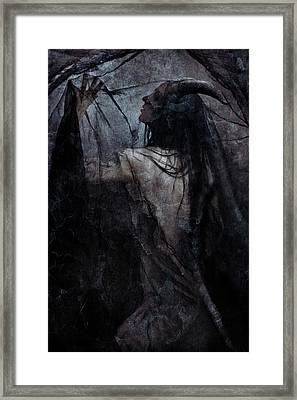 Shadow Veil Framed Print by Cambion Art