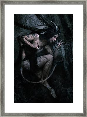 Shadow Veil II Framed Print by Cambion Art