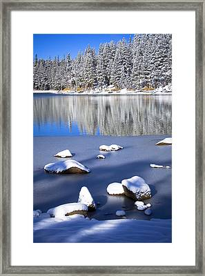Shadowed Coolness Framed Print by Chris Brannen