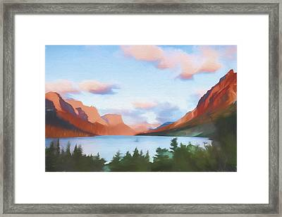 Shadowing Goose Island II Framed Print