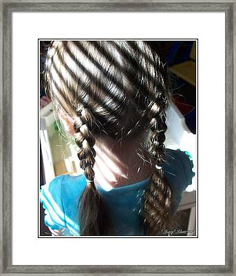 Shadows And Braids Framed Print by Emily Kelley
