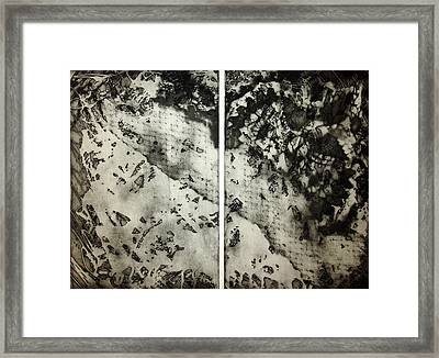 Shadows And Lace Framed Print by Nancy Mueller