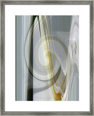 Shadows And Light - Iris Abstract - Manipulated Photography Framed Print