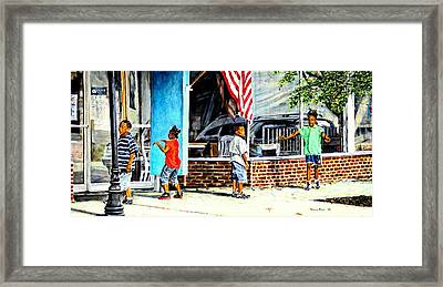 Shadows And Relections Framed Print by Thomas Akers