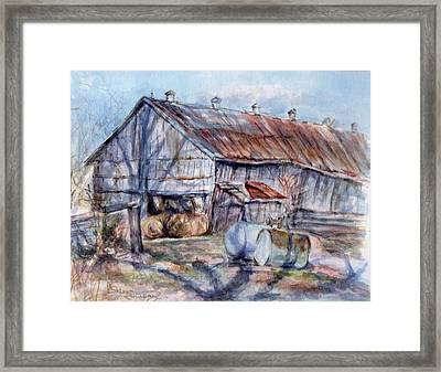 Shadows And Rust Framed Print