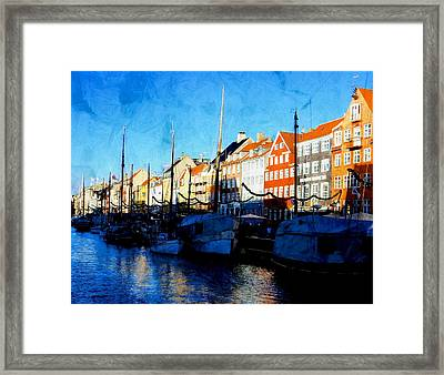 Shadows At Nyhavn Framed Print by Dorothy Berry-Lound