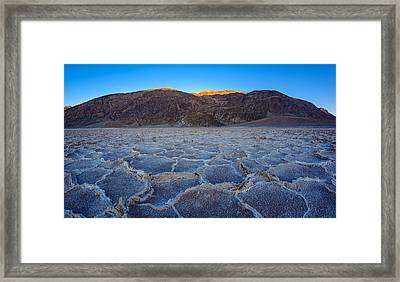 Shadows Fall Over Badwater Framed Print