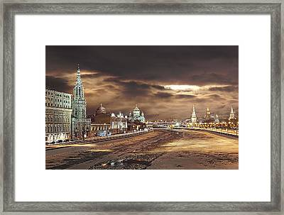 Framed Print featuring the photograph Shadows by Gouzel -