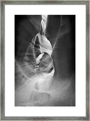 Shadows In Antelope Canyon Framed Print