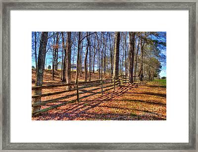 Shadows In Autumn Framed Print by Reid Callaway