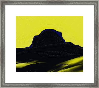Shadows In The West Framed Print
