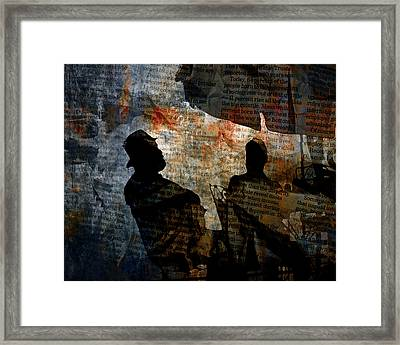 Shadows Of A Conversation Framed Print by Randall Nyhof