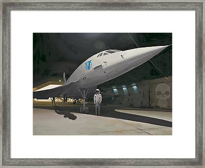 Framed Print featuring the painting Shadows Of Dangerous Men by Scott Listfield