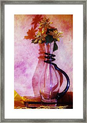 Shadows Of Gold Framed Print