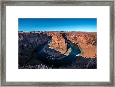 Shadows Of Horseshoe Bend Page, Arizona Framed Print