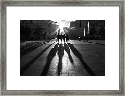 Shadows Of The Beatles Framed Print