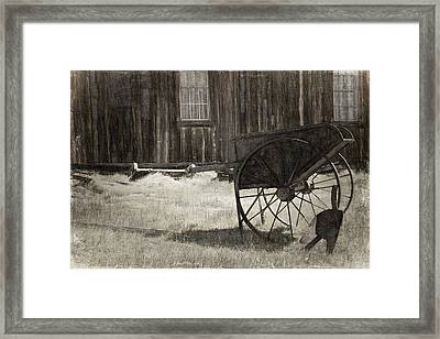 Shadows Of Time Framed Print