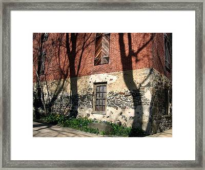 Framed Print featuring the photograph Shadows On A Brandywine Wall by Don Struke