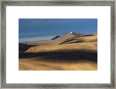 Shadows On Hills Framed Print by Hitendra SINKAR