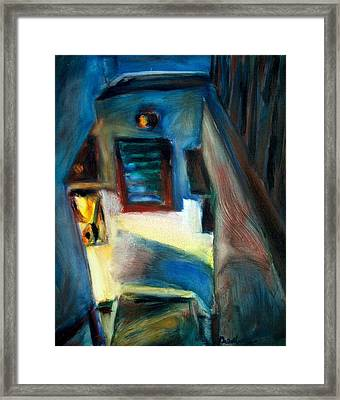 Shadows On The Down Stairs Framed Print by Bob Dornberg