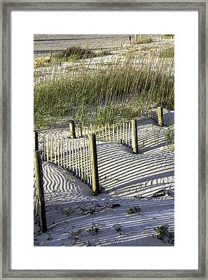 Shadows On The Dune Framed Print