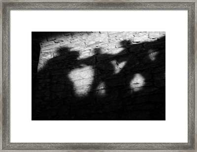 Shadows On The Wall Of Edinburgh Castle  Framed Print by Christine Till