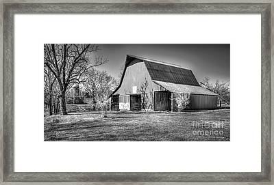Shadows On The Wall Tennessee Barn Art Framed Print