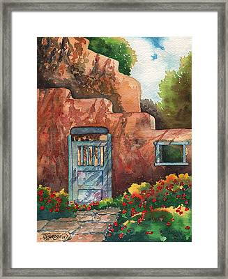 Shadows On The Wall Framed Print