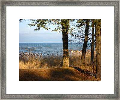 Shadows Over Huron Framed Print