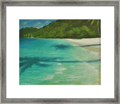 Shadows Over Magens Bay By Alan Zawacki Framed Print